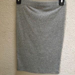 Heather grey midi skirt!